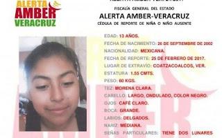 Activan Alerta Amber para Karen Arlen Balcázar Salas en Coatzacoalcos Veracruz