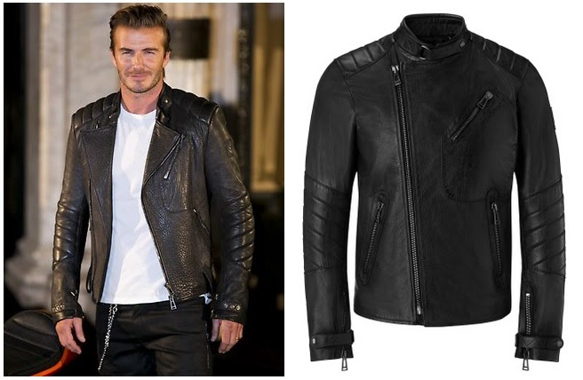 Gambar David Beckham Leather JAcket