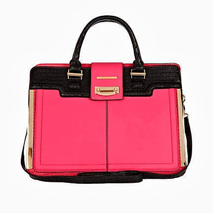 River Island Pink Colour Block Tote Bag