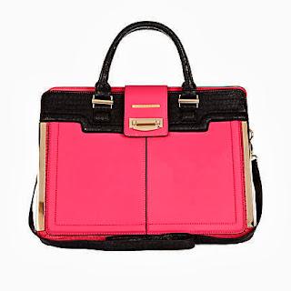 River Island Pink Colour Block Tote Bag