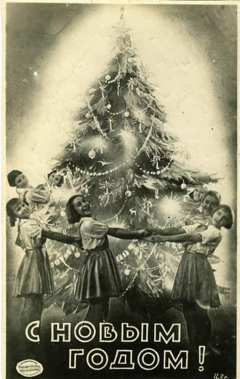 Советские открытки черно-белые