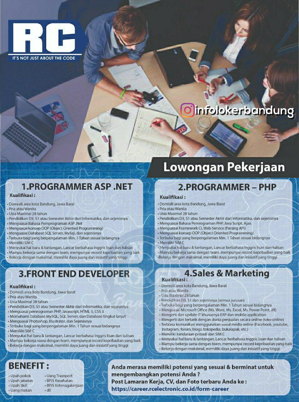 Lowongan Kerja CV. RC Electronic Bandung Juli 2018