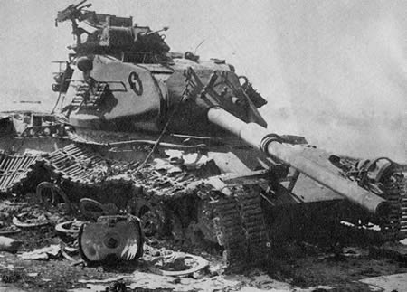 Destroyed israeli tank