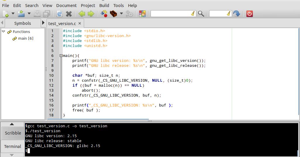 Linux-Buddy: Get GNU libc version at run-time using C