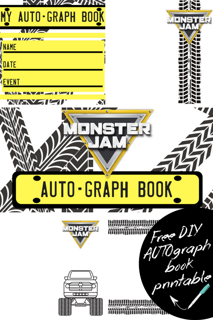 Print your own Monster Jam AUTO-graph book