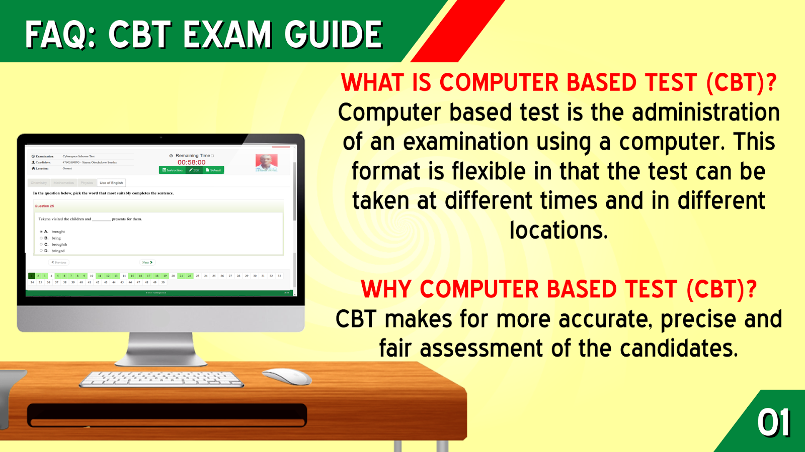 Jamb CBT Frequently Asked Questions - JAMB FAQs