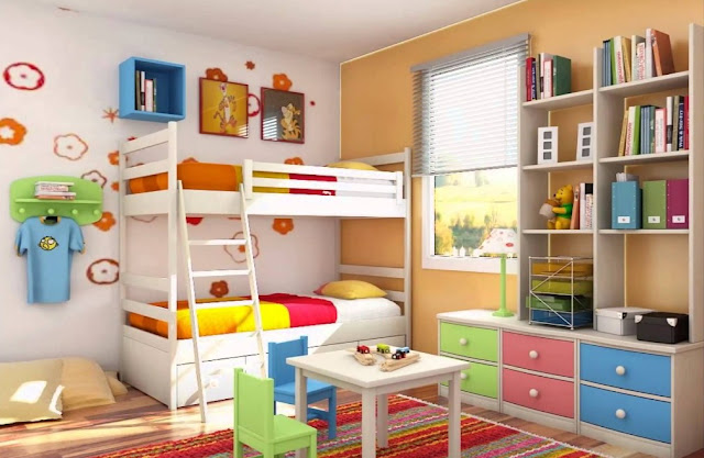 kamar tidur anak minimalis ukuran 3x3