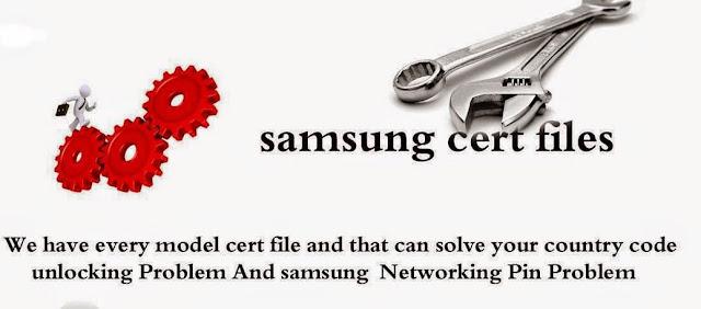 Samsung Cert File -Network problem File Download
