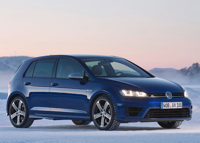2015 Volkswagen Golf R blue