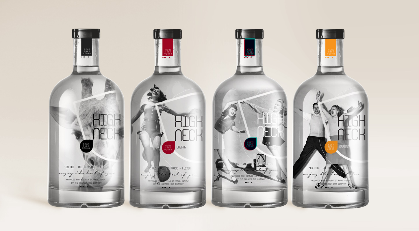 High Neck Concept On Packaging Of The World Creative