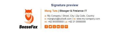Contoh email signature