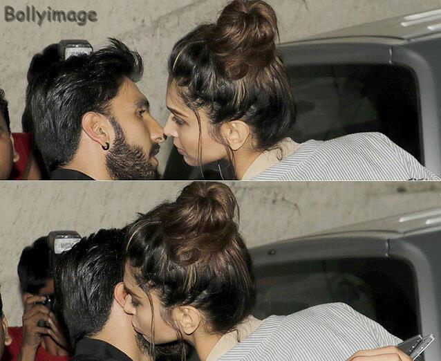Deepika Padukone Kisses Ranveer Singh Photo