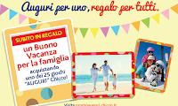 Logo Premio omaggio sicuro: vacanza per tutta la famiglia con i giocattoli Auguri Chicco