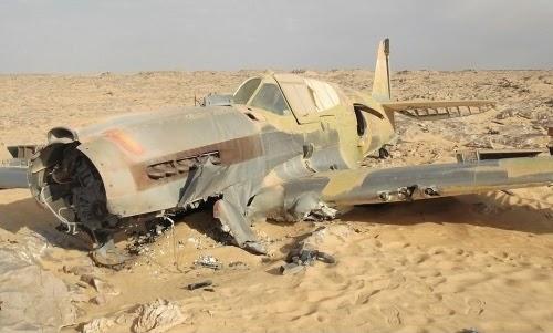 P-40 hallado en el Sahara