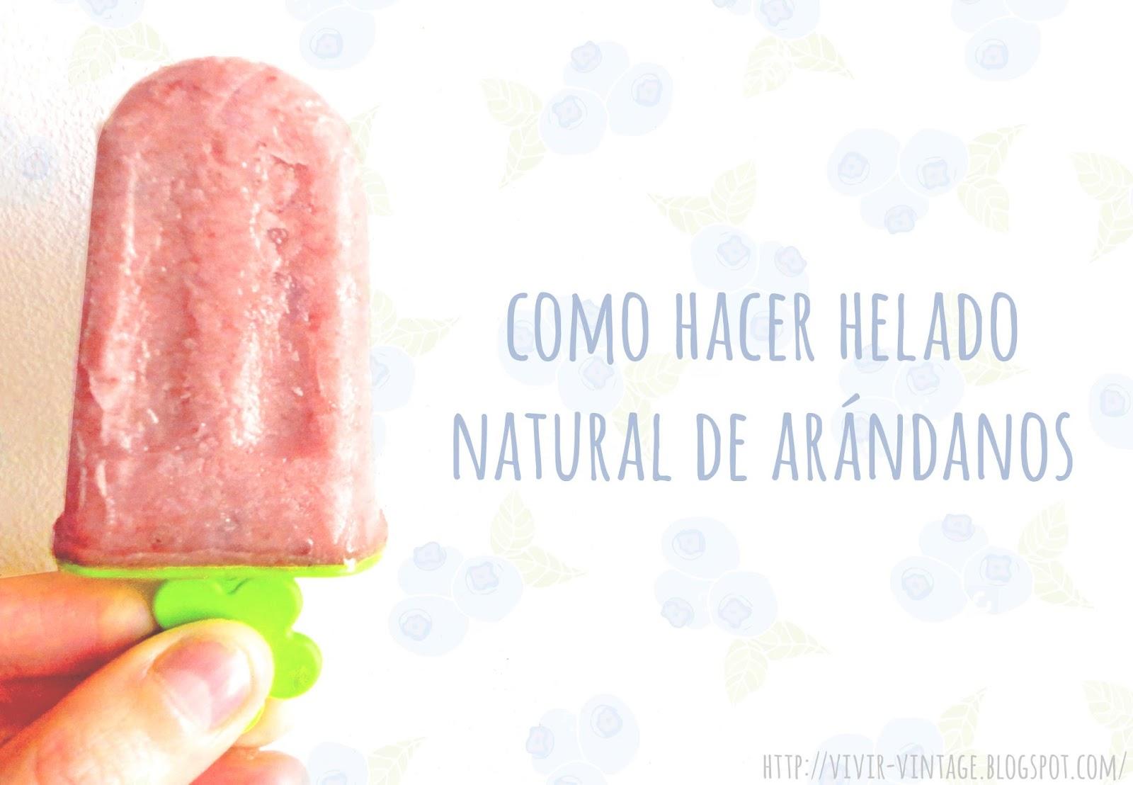 helado natural de arándanos sin heladora