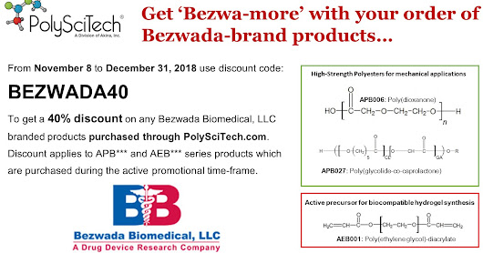 Get 'Bezwa-more' for your Bezwada-branded product purchase placed through PolySciTech with discount code BEZWADA40