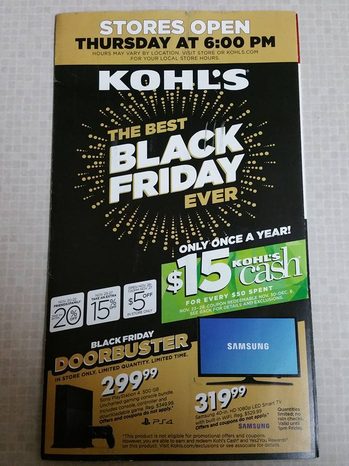 Kohl S Black Friday 2015 Free 5 Off 5 Coupon Mailed To Some