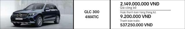 Giá xe Mercedes GLC 300 4MATIC 2018 tại Mercedes Trường Chinh
