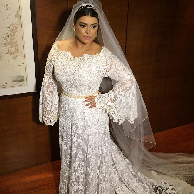 Preta Gil vestido de noiva,  da estilista Helô Pinheiro
