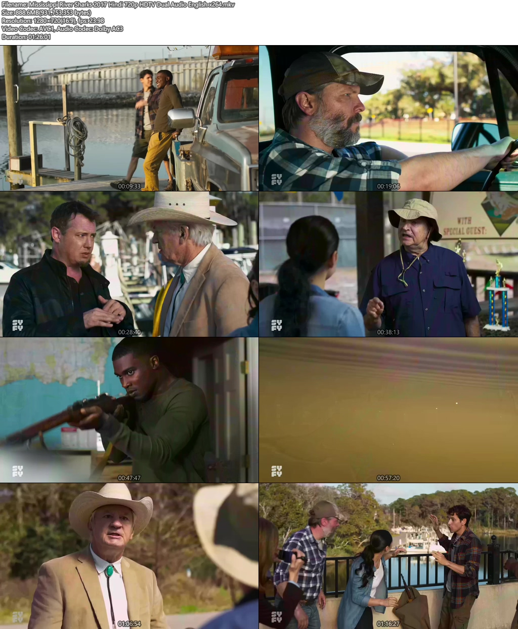 Mississippi River Sharks 2017 Hindi 720p HDTV Dual Audio | 480p 300MB | 100MB HEVC Screenshot