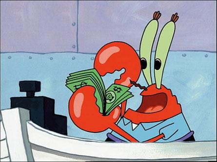 Spongebob Squarepants Picture Day Mr Krab S Money
