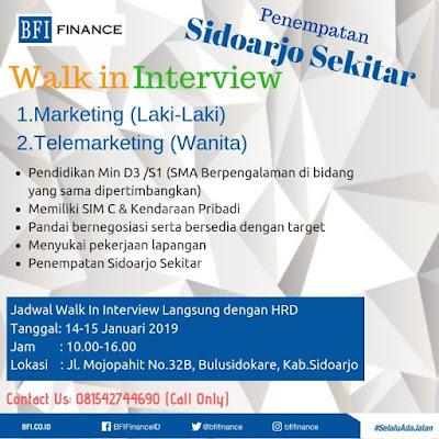 lowongan kerja marketing BFI Finance Sidoarjo