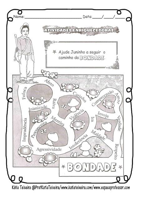 bondade-page-002 Atividade para trabalhar Valores: Bondade