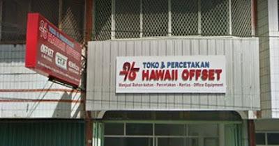 LOKER Operator Mesin Cetak Offset TOKO & PERCETAKAN HAWAII OFFSET PADANG DESEMBER 2018