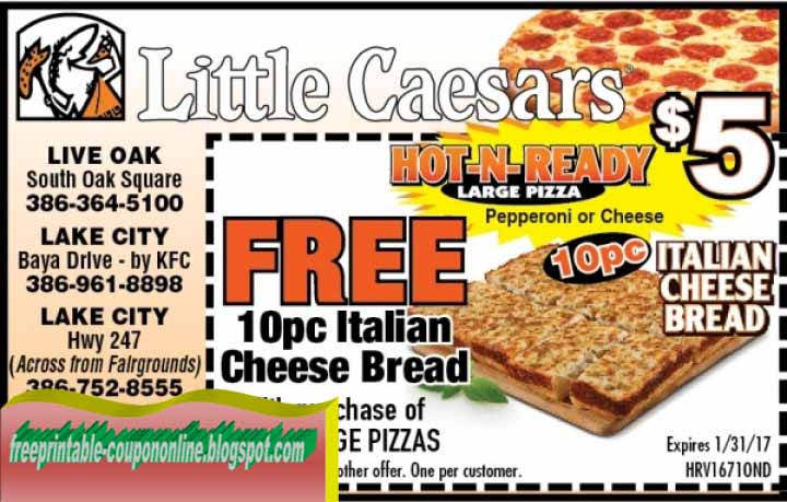 Print out coupons for Little Caesars. BeFrugal updates printable coupons for Little Caesars every day. Print the coupons below and take to a participating Little Caesars to save.