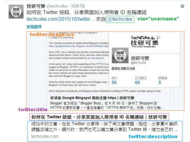 Blogger 文章分享 Twitter Card Meta 標記設定_001