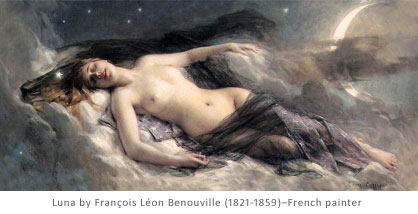 Luna by François Léon Benouville (1821-1859), French painter