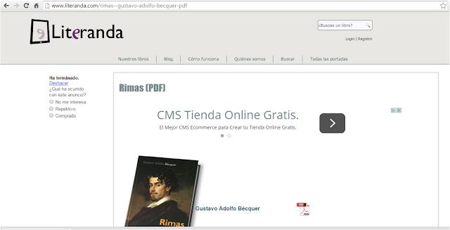 """""""Rimas"""" en Literanda"""