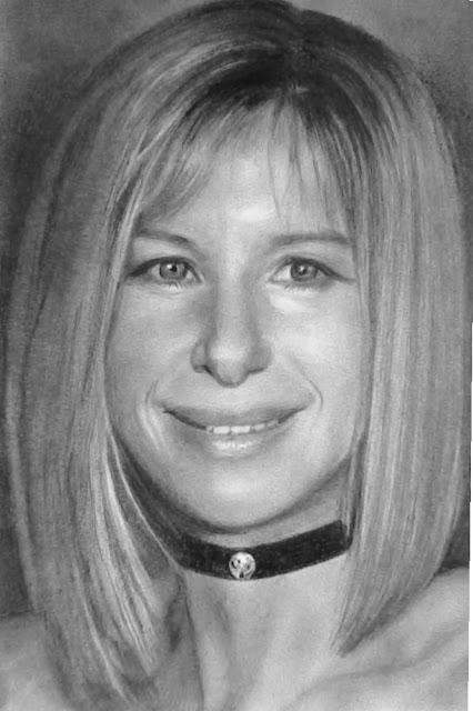 Barbra+Streisand+portrait+by+Silvia+Reis