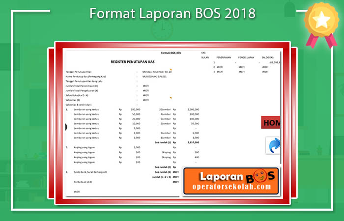 Format Laporan BOS 2018
