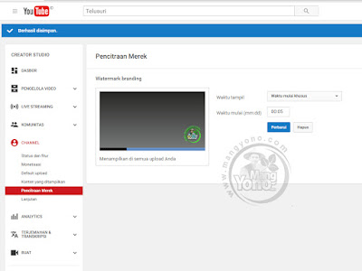 Gb.3. Cara Membuat Watermark di Video YouTube