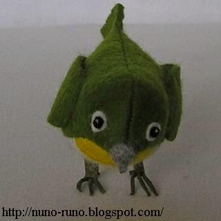 passarinho de feltro