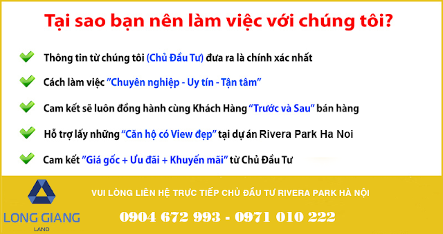 Liên hệ chủ đầu tư Rivera Park Hà Nội