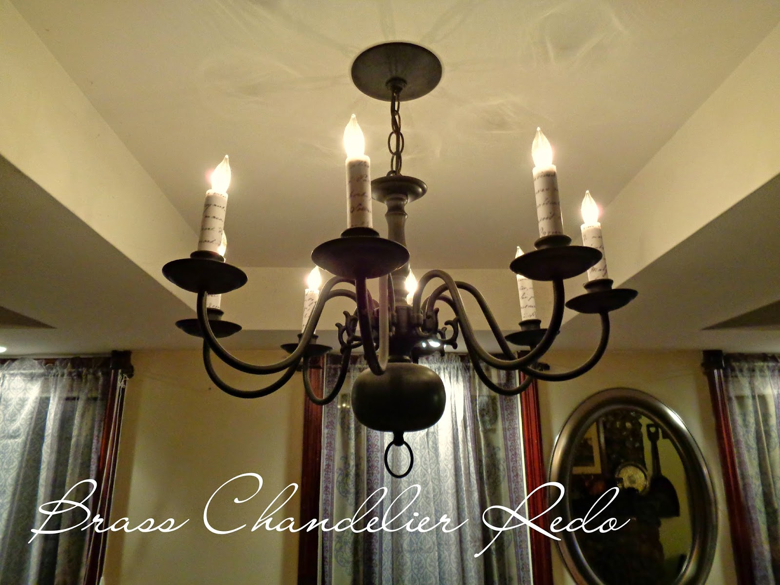 Updated Brass Chandelier Redo It Yourself Inspirations