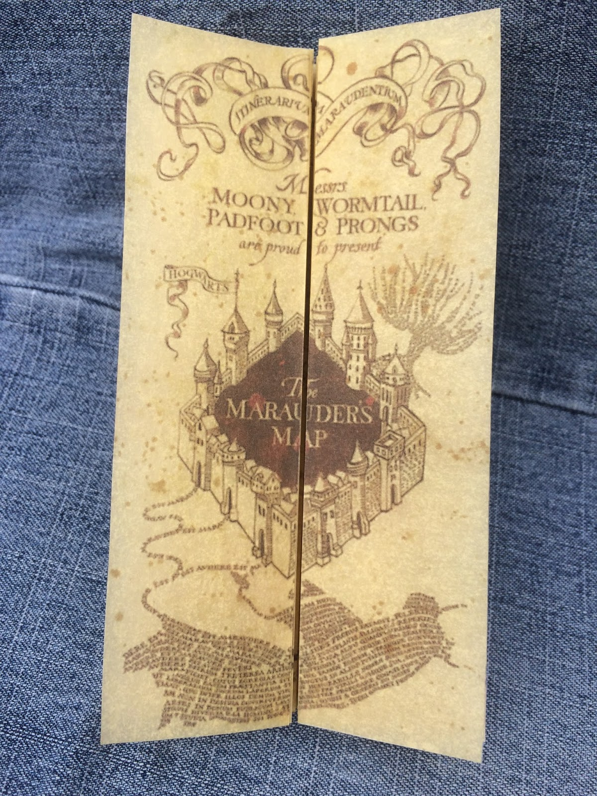 This is a picture of Shocking Marauders Map Printable