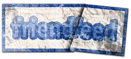 Friendfeed logo old paper