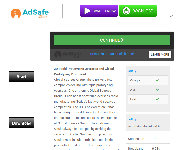 Media Link Theme - AdSafe Click