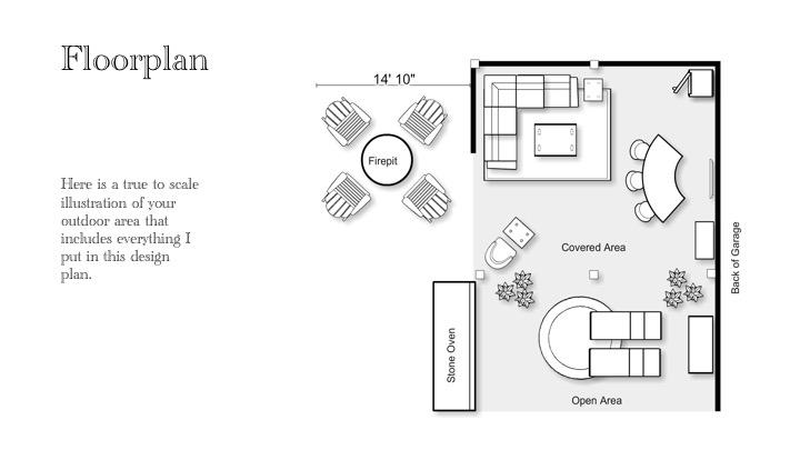 The Yellow Cape Cod Backyard Entertaining Area Design Plan