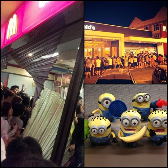 PRU, only in malaysia, minions crave, despicable me 2, mcd free minions, happy meal