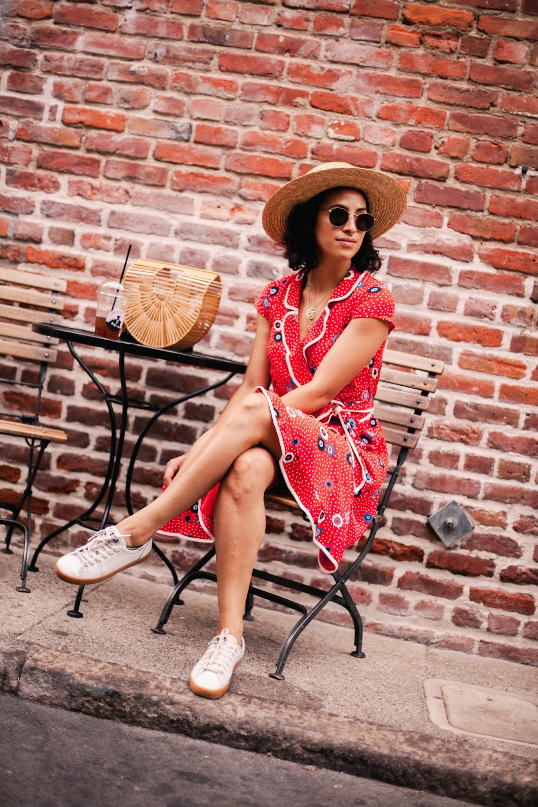 Allergic to Vanilla-- San Francisco lifestyle blog-- red print summer dress, modcloth, modcloth dress, modcloth fitshop, coin necklaces trend
