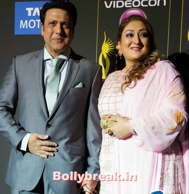 Govinda with his wife, IIFA Awards 2014 Pics