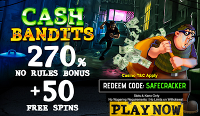 270% No Rules Slots Bonus and 50 Free Spins Offer