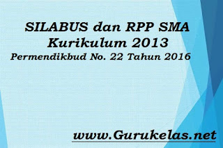 RPP SMA Kurikulum 2013 Permendikbud No. 22 Tahun 2016