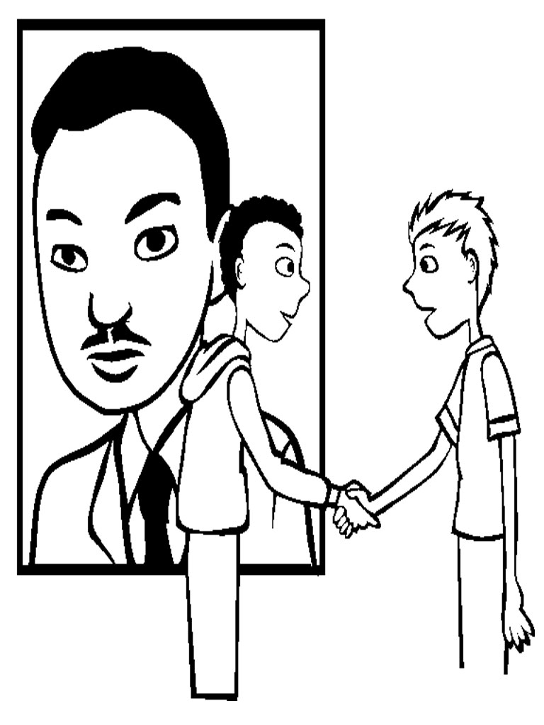 mlk coloring pages free - martin luther king jr coloring pages realistic coloring