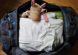gepackte Reisetasche