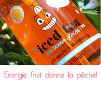 gel douche  iced tea de energie fruit